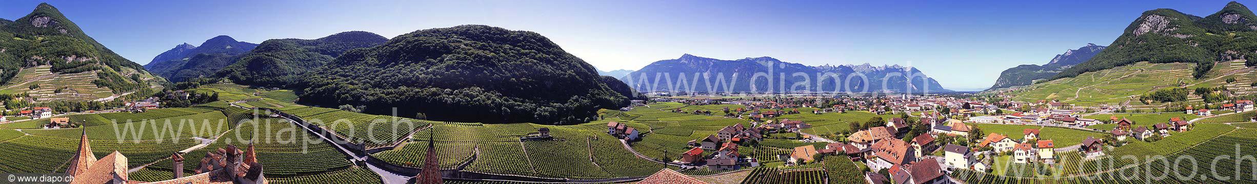 10698 - Suisse, canton de Vaud - Aigle depuis le Château