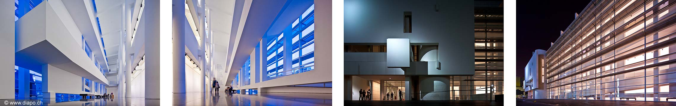 12802 - Photo architecture: MACBA, Musée d Art Contemporain de Barcelone - Espagne - Architecte Richard Meier