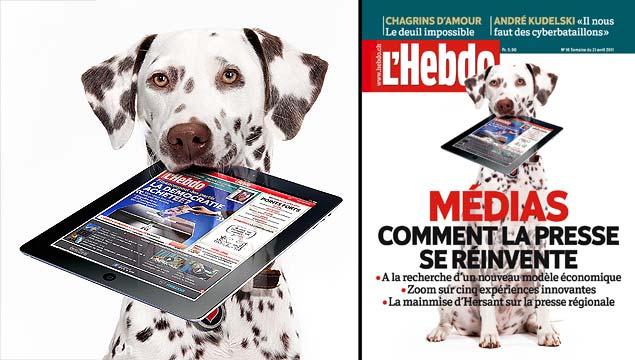 13144 - Couverture pour l'Hebdo avec photomontage