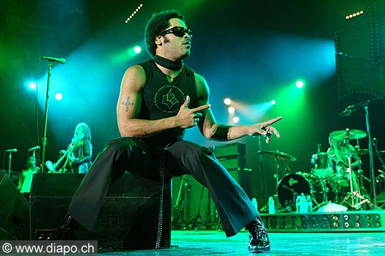 7704 - Photo de musique, spectacle et concert : Lenny Kravitz -  Pal�o festival de Nyon - 2005