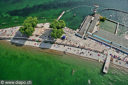 9189 photo suisse la ville de genève vue du ciel et les bains