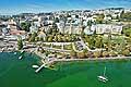 10508 - Photo: Ville de Lausanne, Ouchy, H�tel Beau-Rivage et le lac L�man