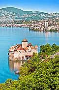 10683 - photo: Suisse, Château de Chillon, lac Léman et Montreux