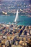 10699 - Photo : Suisse - ville de Genève - jet d'eau - lac Léman - Geneva, , switzerland