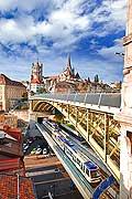 10905 - Suisse, Cathédrale de Lausanne et le métro M2