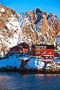 11137 - Photo :  Norvège,  Arctique, îles Lofoten, village de svolvaer sur l\'île de Austvagoy
