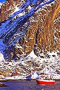 11148 - Photo :  Norvège,  Arctique, îles Lofoten, village de svolvaer sur l\'île de Austvagoy