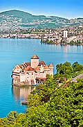 11229 - Photo :  Suisse - Château de Chillon au bord du Lac Léman