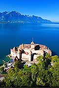 11338 - Photo :  Suisse - Château de Chillon au bord du Lac Léman