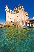 11447 - Photo :  Suisse - Château de Chillon au bord du Lac Léman