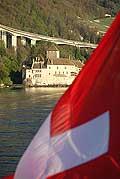 11593 - Photo : Suisse - Château de Chillon au bord du Lac Léman