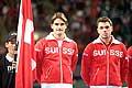 11929 - Photo - Roger Federer  et Stanislas Wawrinka, Coupe Devis � Lausanne - suisse - switzerland