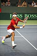 11933 - Photo - Federer  Roger, Coupe Devis � Lausanne - suisse - switzerland