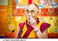 12623 - Photo: Tenzin Gyatso, le dalaï-lama, le plus haut chef spirituel du Tibet à Lausanne en Suisse