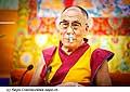 12624 - Photo: Tenzin Gyatso, le dalaï-lama, le plus haut chef spirituel du Tibet à Lausanne en Suisse