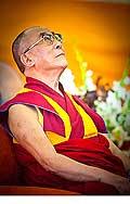 12629 - Photo: Tenzin Gyatso, le dalaï-lama, le plus haut chef spirituel du Tibet à Lausanne en Suisse