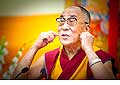 12631 - Photo: Tenzin Gyatso, le dalaï-lama, le plus haut chef spirituel du Tibet à Lausanne en Suisse