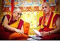12635 - Photo: Tenzin Gyatso, le dalaï-lama, le plus haut chef spirituel du Tibet à Lausanne en Suisse