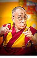 12643 - Photo: Tenzin Gyatso, le dalaï-lama, le plus haut chef spirituel du Tibet à Lausanne en Suisse
