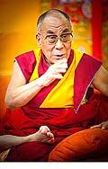 12644 - Photo: Tenzin Gyatso, le dalaï-lama, le plus haut chef spirituel du Tibet à Lausanne en Suisse