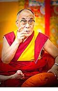 12646 - Photo: Tenzin Gyatso, le dalaï-lama, le plus haut chef spirituel du Tibet à Lausanne en Suisse