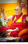 12647 - Photo: Tenzin Gyatso, le dalaï-lama, le plus haut chef spirituel du Tibet à Lausanne en Suisse