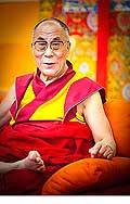 12648 - Photo: Tenzin Gyatso, le dalaï-lama, le plus haut chef spirituel du Tibet à Lausanne en Suisse