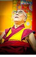 12649 - Photo: Tenzin Gyatso, le dalaï-lama, le plus haut chef spirituel du Tibet à Lausanne en Suisse