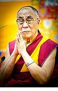 12650 - Photo: Tenzin Gyatso, le dalaï-lama, le plus haut chef spirituel du Tibet à Lausanne en Suisse