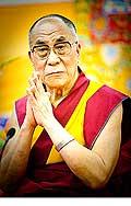 12651 - Photo: Tenzin Gyatso, le dalaï-lama, le plus haut chef spirituel du Tibet à Lausanne en Suisse