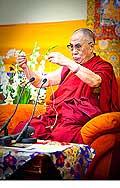 12652 - Photo: Tenzin Gyatso, le dalaï-lama, le plus haut chef spirituel du Tibet à Lausanne en Suisse