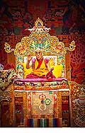 12656 - Photo: Tenzin Gyatso, le dalaï-lama, le plus haut chef spirituel du Tibet à Lausanne en Suisse