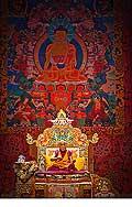 12657 - Photo: Tenzin Gyatso, le dalaï-lama, le plus haut chef spirituel du Tibet à Lausanne en Suisse