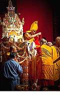 12678 - Photo: Tenzin Gyatso, le dalaï-lama, le plus haut chef spirituel du Tibet à Lausanne en Suisse