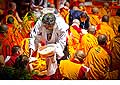12685 - Photo: Tenzin Gyatso, le dalaï-lama, le plus haut chef spirituel du Tibet à Lausanne en Suisse