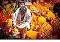 12686 - Photo: Tenzin Gyatso, le dalaï-lama, le plus haut chef spirituel du Tibet à Lausanne en Suisse