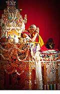 12693 - Photo: Tenzin Gyatso, le dalaï-lama, le plus haut chef spirituel du Tibet à Lausanne en Suisse