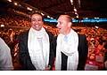 12699 - Photo: Philippe Leuba et Pascal Broulis à la conférence de Tenzin Gyatso, le dalaï-lama, le plus haut chef spirituel du Tibet à Lausanne en Suisse