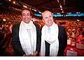 12700 - Photo: Philippe Leuba et Pascal Broulis à la conférence de Tenzin Gyatso, le dalaï-lama, le plus haut chef spirituel du Tibet à Lausanne en Suisse