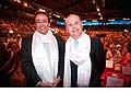 12701 - Photo: Philippe Leuba et Pascal Broulis à la conférence de Tenzin Gyatso, le dalaï-lama, le plus haut chef spirituel du Tibet à Lausanne en Suisse