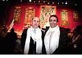 12704 - Photo: Philippe Leuba et Pascal Broulis à la conférence de Tenzin Gyatso, le dalaï-lama, le plus haut chef spirituel du Tibet à Lausanne en Suisse