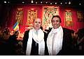12705 - Photo: Philippe Leuba et Pascal Broulis à la conférence de Tenzin Gyatso, le dalaï-lama, le plus haut chef spirituel du Tibet à Lausanne en Suisse