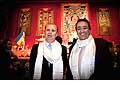 12706 - Photo: Philippe Leuba et Pascal Broulis à la conférence de Tenzin Gyatso, le dalaï-lama, le plus haut chef spirituel du Tibet à Lausanne en Suisse