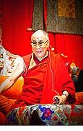 12709 - Photo: Tenzin Gyatso, le dalaï-lama, le plus haut chef spirituel du Tibet à Lausanne en Suisse