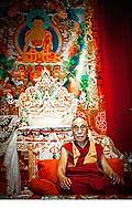 12710 - Photo: Tenzin Gyatso, le dalaï-lama, le plus haut chef spirituel du Tibet à Lausanne en Suisse