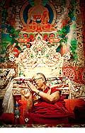 12711 - Photo: Tenzin Gyatso, le dalaï-lama, le plus haut chef spirituel du Tibet à Lausanne en Suisse