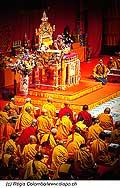 12723 - Photo: Tenzin Gyatso, le dalaï-lama, le plus haut chef spirituel du Tibet à Lausanne en Suisse