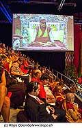 12729 - Photo: Tenzin Gyatso, le dalaï-lama, le plus haut chef spirituel du Tibet à Lausanne en Suisse