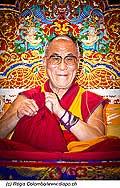12734 - Photo: Tenzin Gyatso, le dalaï-lama, le plus haut chef spirituel du Tibet à Lausanne en Suisse