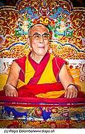 12735 - Photo: Tenzin Gyatso, le dalaï-lama, le plus haut chef spirituel du Tibet à Lausanne en Suisse